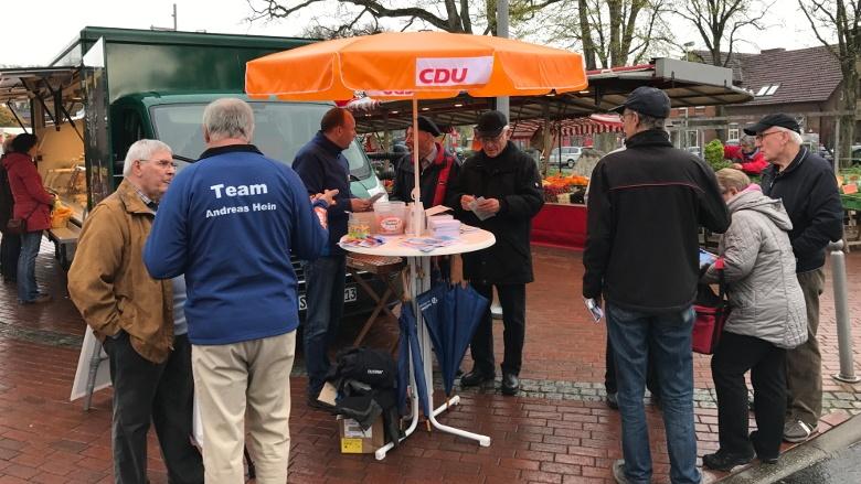 CDU Infostand in Kropp