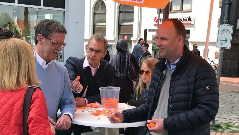 Marktstand in Heide - wir sagen: VIELEN DANK!