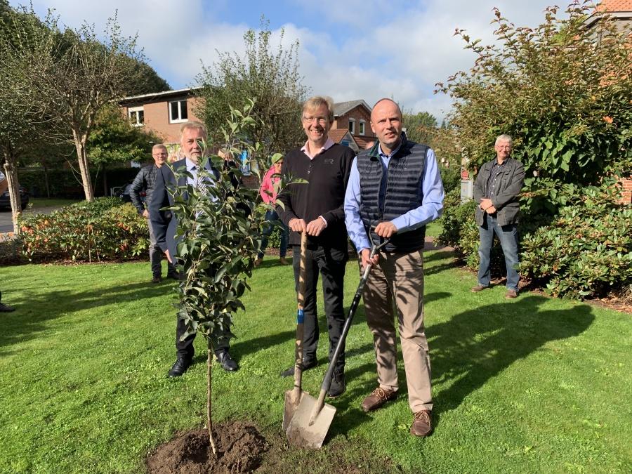 Baum pflanzen Handwerkszentrum Kropp-Stapelholm