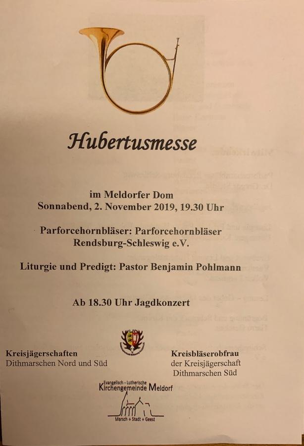 Hubertusmesse in Meldorf