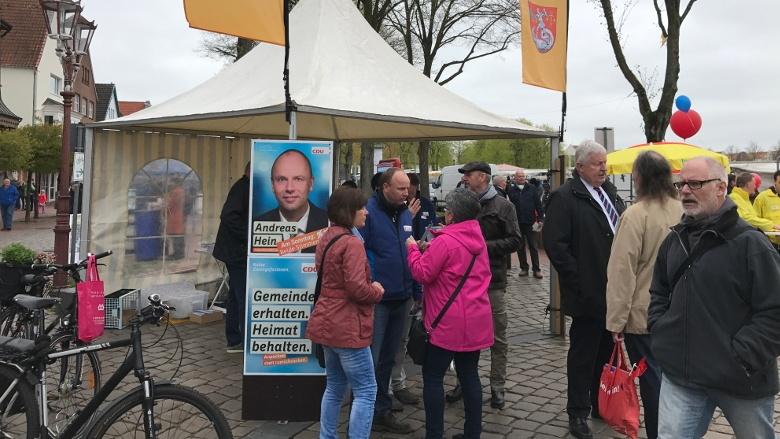Wahlkampfendspurt in Heide