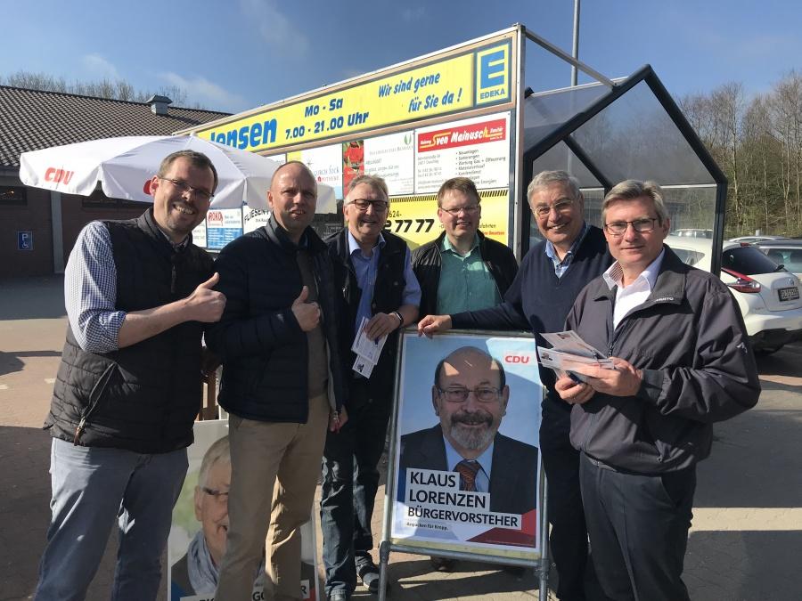 Wahlkampfstand der CDU Kropp