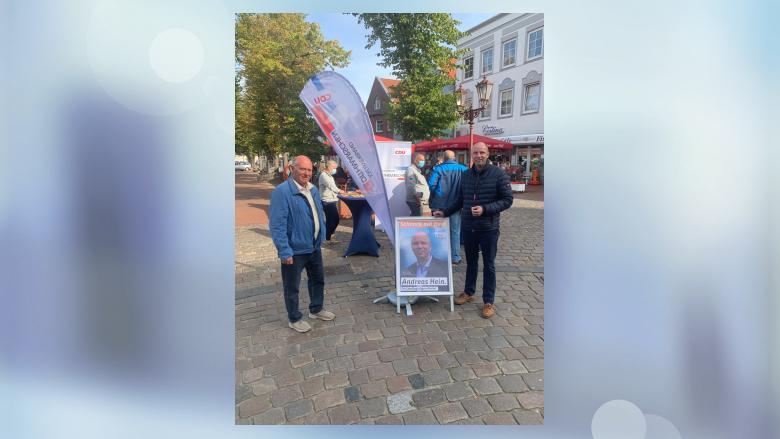 Infostand in Heide